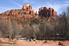 Castle Rock in Sedona Royalty Free Stock Images