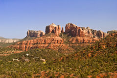 Castle Rock in Sedona. View of Castle Rock in Sedona looking West royalty free stock image