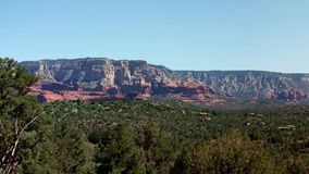 Castle Rock Panorama in Sedona, Arizona, USA stock video footage