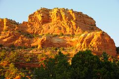 Castle Rock in Sedona at Sunset Stock Photos