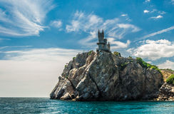 Castle on a Rock. Shooted from sea. Crimea stock image