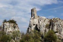 Castle on the rock, Sirotci hrad, Palava, Moravia, Czech republic Royalty Free Stock Photography