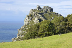 Castle Rock, Valley Of The Rocks Royalty Free Stock Image