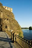 Castle rock and Vltava river Stock Image