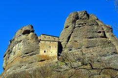 Castle rock, vobbia, Gênes Images libres de droits