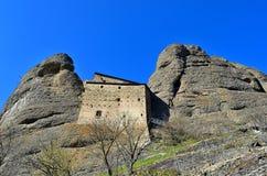Castle rock, vobbia, Gênes Photo stock