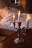 Castle romance. Old fashioned romance with candles in a castle room Royalty Free Stock Photos