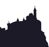 Castle Romanesque style. Vector drawing Stock Image