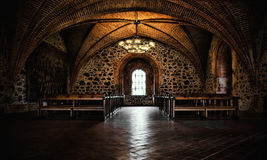 Castle room ,medieval interior, gothic hall Stock Photo