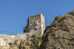 Castle of Roquebrune village Stock Image