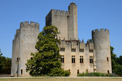 Castle of Roquetaillade in Gironde Royalty Free Stock Photo
