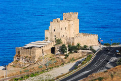 Castle of Roseto Capo Spulico Stock Photos