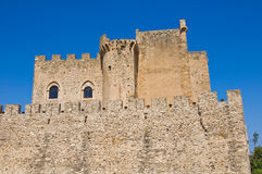 Castle of Roseto Capo Spulico. Calabria. Italy. Royalty Free Stock Photo
