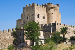 Castle of Roseto Capo Spulico. Calabria. Italy. Royalty Free Stock Photos