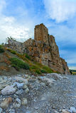 Castle of roseto on the rocks Royalty Free Stock Photos