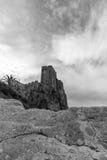 Castle of roseto on the rocks Stock Photo