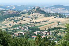 Castle Rossena on Emilia Romagna Royalty Free Stock Images