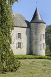 Castle round tower, rumigny, ardennes Royalty Free Stock Photos