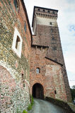 Castle of Rovasenda (Vercelli, Italy) Stock Image