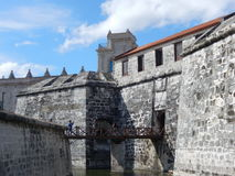 CASTLE OF THE ROYAL FORCE, HAVANA, CUBA. Havana, Cuba - January 19, 2016: The Royal Force Castle, originally built to defend against attack by pirates, was Stock Images