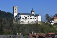 Castle Rozmberk in south of Czech republic. In Bohemia region Royalty Free Stock Photo
