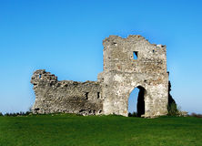 CASTLE RUIN. Romantic ruin of the castle on hill Stock Photo