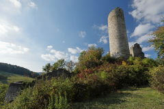 Castle ruin of Brandenburg in the Werra Valley Royalty Free Stock Photography