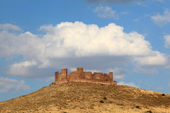 Castle ruin in Castilla-La Mancha, Spain Royalty Free Stock Photos