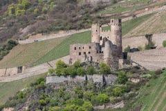 castle ruin ehrenfels bingen germany Stock Photography