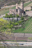 castle ruin ehrenfels bingen germany Royalty Free Stock Photos