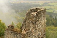 Castle ruin Finkenstein. In Carinthia, Austria Stock Photography