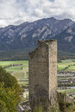 Castle ruin  Haldenstein Royalty Free Stock Images