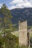 Castle ruin  Haldenstein Stock Image