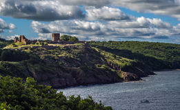 The castle ruin Hammershus on the northern part of Bornholm Royalty Free Stock Photos