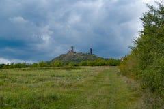 Castle ruin Haznburk in central bohemia Royalty Free Stock Photos