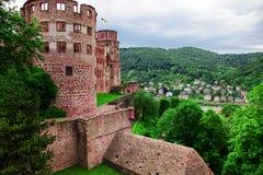 Castle ruin in Heidelberg Stock Photography