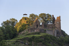 Castle ruin in the historic town alt ahrweiler germany Royalty Free Stock Images