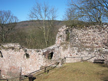Castle ruin Hohnstein in Germany Royalty Free Stock Images