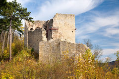 Castle ruin Lobdeburg Stock Images