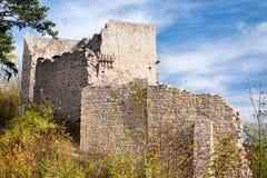 Castle ruin Lobdeburg Royalty Free Stock Images