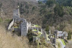 Castle Ruin Manderscheid, Germany Stock Photography