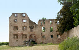 Castle ruin in Oppenheim. Castle ruin at Oppenheim in the Rhineland-Palatinate in Germany stock photo