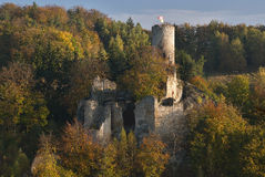 Castle ruin on the rock Stock Photography