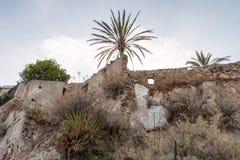 Castle ruin. In a small sicilian village stock image