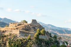 Castle ruin. In a small sicilian village stock images