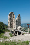 Castle ruin with viewing point Royalty Free Stock Photo