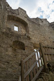 Castle ruin Waxenberg - preserved remains. Worth seeing remnants of the ruins Waxenberg in Austria Stock Photography