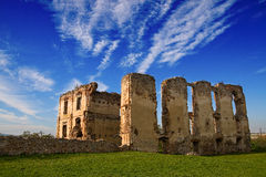 Castle ruins. Dark ages castle ruins in Poland royalty free stock photos
