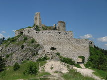 Castle ruins. On Cachtice in Slovakia (Europe Stock Photo