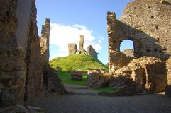 Castle Ruins. In western England, built in 1068 by Normans Stock Photography